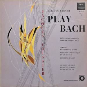 Jacques Loussier: Play Bach - Cover