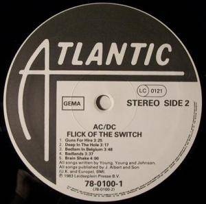 AC/DC: Flick Of The Switch (LP) - Bild 4