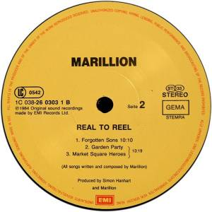 Marillion: Real To Reel (LP) - Bild 4