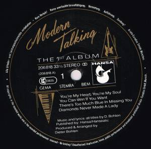 Modern Talking: The 1st Album (LP) - Bild 3