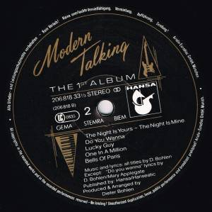 Modern Talking: The 1st Album (LP) - Bild 4