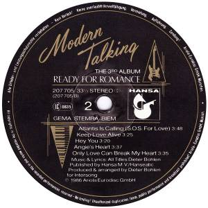 Modern Talking: Ready For Romance (LP) - Bild 6