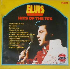 Elvis Presley: Hits Of The 70's - Cover