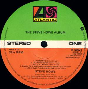 Steve Howe: The Steve Howe Album (LP) - Bild 4