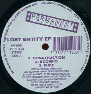 Cover - Joey Beltram: Lost Entity EP