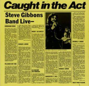 Steve Gibbons Band: Caught In The Act - Cover