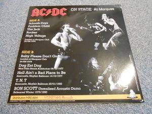 AC/DC: On Stage At Marquee (LP) - Bild 3