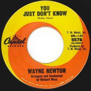 Cover - Wayne Newton: You Just Don't Know