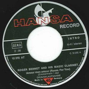 Cover - Roger Bennet And His Magic Clarinet: Amour Mon Amour (Roses For You)