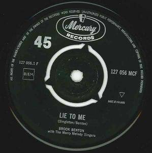 Cover - Brook Benton: Lie To Me