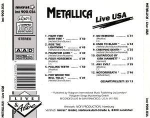 Metallica: Live USA (CD) - Bild 2
