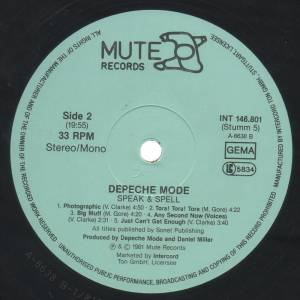 Depeche Mode: Speak & Spell (LP) - Bild 4