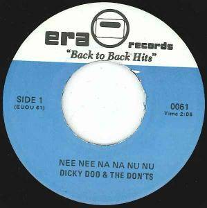 Cover - Dickey Doo And The Dont's: Nee Nee Na Na Nu Nu