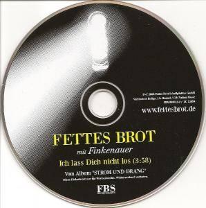 Ich Lass Dich Nicht Los | Promo-Single-CD (2008) von