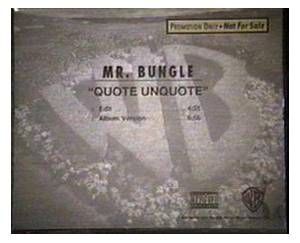 Cover - Mr. Bungle: Quote Unquote