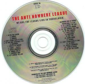 Anti-Nowhere League: We Are The League / Live In Yugoslavia (CD) - Bild 4