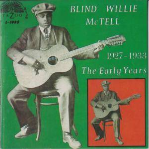 Cover - Blind Willie McTell: 1927-1933 The Early Years