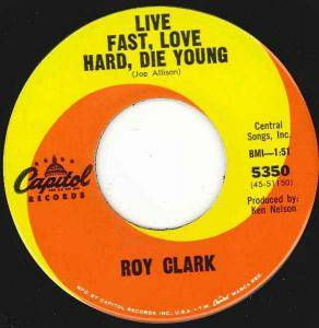 Cover - Roy Clark: Live Fast, Love Hard, Die Young