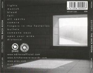 Editors: The Back Room (CD) - Bild 2