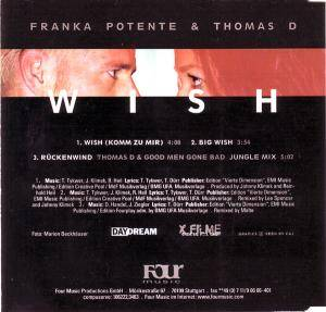 Franka Potente & Thomas D: Wish (Single-CD) - Bild 2