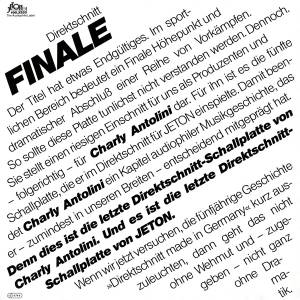 Cover - Charly Antolini: Finale