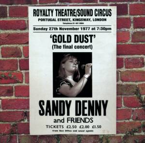 "Cover - Sandy Denny: ""Gold Dust"" Live At The Royalty"