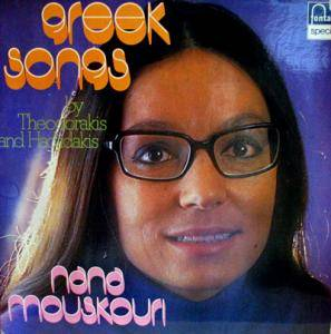 Cover - Nana Mouskouri: Greek Songs By Theodorakis And Hadjidakis
