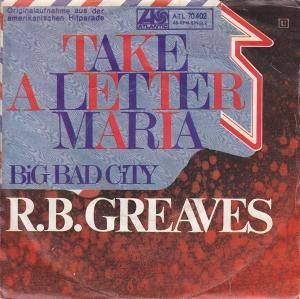 R. B. Greaves: Take A Letter Maria - Cover