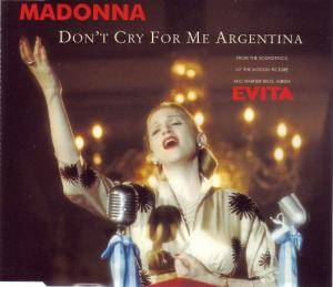 Madonna: Don't Cry For Me Argentina - Cover