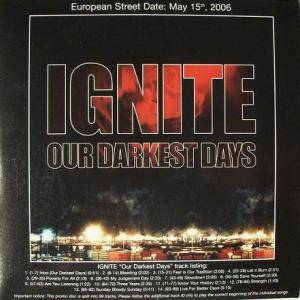 Ignite: Our Darkest Days - Cover