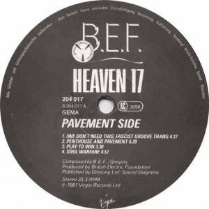 Heaven 17: Penthouse And Pavement (LP) - Bild 3