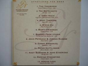Cover - Andy Timmons: Favored Nations - Appetizers For 2003