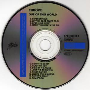 Europe: Out Of This World (CD) - Bild 3