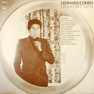 Leonard Cohen: Greatest Hits (CBS) - Cover