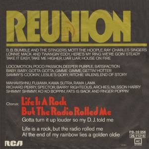 Reunion: Life Is A Rock (But The Radio Rolled Me) - Cover