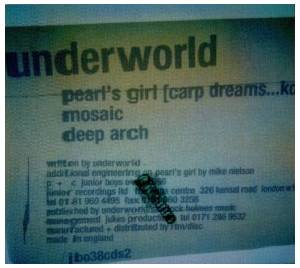 Underworld: Pearl's Girl - Cover