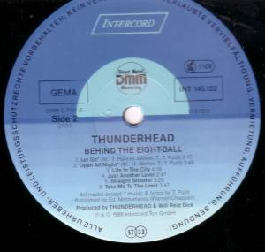 Thunderhead: Behind The Eight-Ball (LP) - Bild 3