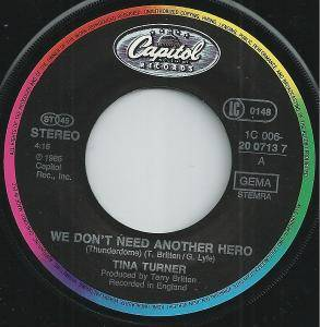 "Tina Turner: We Don't Need Another Hero (Thunderdome) (7"") - Bild 3"