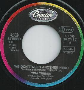 "Tina Turner: We Don't Need Another Hero (Thunderdome) (7"") - Bild 4"