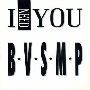 Cover - B.V.S.M.P.: I Need You