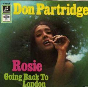Cover - Don Partridge: Rosie/ Going Back To London