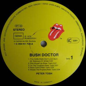 Peter Tosh: Bush Doctor (LP) - Bild 3