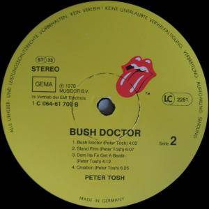 Peter Tosh: Bush Doctor (LP) - Bild 4