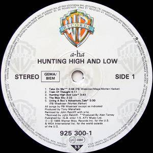 a-ha: Hunting High And Low (LP) - Bild 3