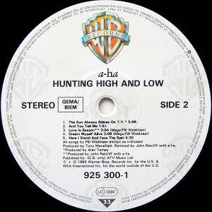 a-ha: Hunting High And Low (LP) - Bild 4
