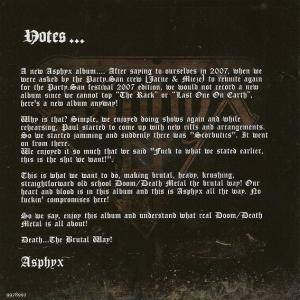 Asphyx: Death... The Brutal Way (CD) - Bild 2