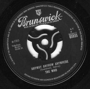 The Who: Anyway Anyhow Anywhere - Cover