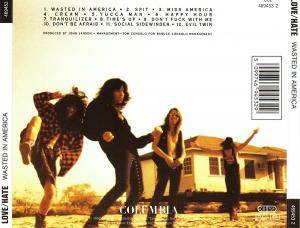 Love/Hate: Wasted In America (CD) - Bild 2