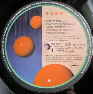 Rush: Hold Your Fire (LP) - Bild 3