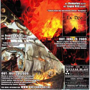 Ex Deo / Swashbuckle: Romulus / Cruise Ship Terror (Split-Promo-Single-CD) - Bild 2